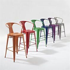 Crosley Furniture CF500730 Amelia Cafe Bar Stool with Back (Set of 2)