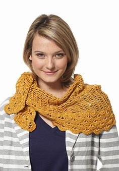 Free Crochet Pattern: Patons Grace - Staggered Shells Wrap