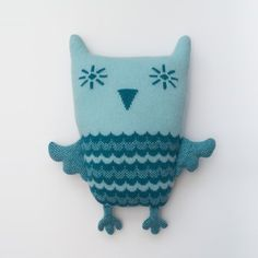 Alfred the Owl Lambswool Plush by Sara Carr
