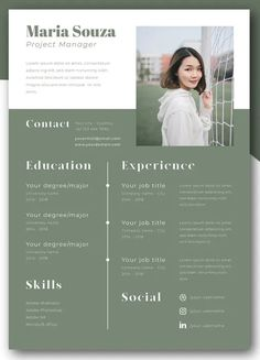 Minimalist CV Resume Template. Print ready format. AI Files include. Professional and clean structured files. A4/A5 Size. CMYK Color Mod. 300 dpi Resolution. All text are editable with text tool. Free font used. Graphic Design Resume, Graphic Design Posters, Graphic Design Inspiration, Cv Design Template, Cv Resume Template, Architecture Portfolio Layout, Portfolio Design, Cv Curriculum Vitae, Resume Layout