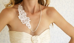 Lace necklace- floral garden lace -  ready to ship. $39.00, via Etsy.
