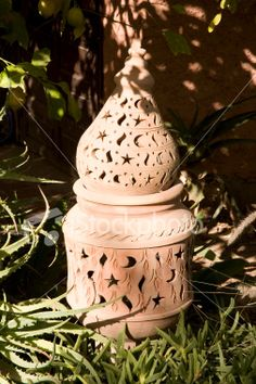 Awesome Green Garden Lantern By Cheryl Wolff (Ceramic Candleholder | Garden Lanterns,  Green Garden And Pottery