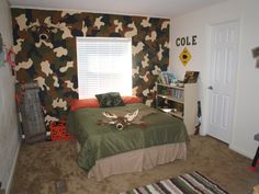 Coles Camo Room My Son Is Four And Wanted A Hunting Because His Dad An Avid Hunter The Wall Was So Much Fun To Paint