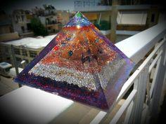 Orgonite pyramid Yellow Quartz, Beautiful