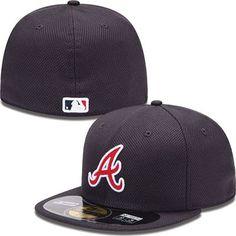 Atlanta Braves New Era MLB Diamond Tech 5950 Fitted Hat (Navy)