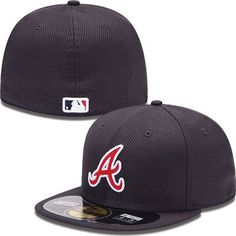 Atlanta Braves New Era MLB Diamond Tech 5950 Fitted Hat (Navy) New Era Hats 6dae18e767e