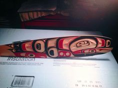 Native Art, Native American Art, John Wilson, Haida Gwaii, Haida Art, Tlingit, Indigenous Art, Paddles, Simple Colors