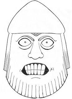 DrawMoreSaunders: Lewis Chessmen Drawings, The British Museum, berserker