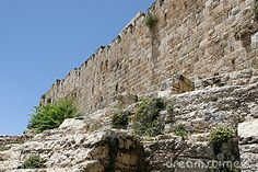 Parede velha da cidade de Israel