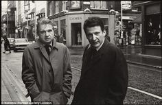 Friendship: Bacon with Lucian Freud, who Peppiatt met for the first time in 1963, the sam...