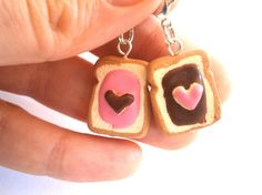 Jelly marmelade and nutella best friend charms/BFF food charm/Miniature food set/Food jewelry/Kawaii charms