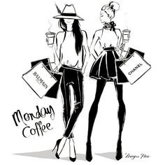 Monday ☕️ || Another extremely talented artist I came across @meganhess_official beautiful sketches that bring you so much closer to the message. || #sketch #art #talent #write #story #create #creativity #believe #do #monday #coffee #fashion #fedora #balmain #chanel #must-have