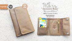 #nvgtrWallet 'Men, Exclusive Bone - Olive Brown, Leather. IDR 185K. Sms/WhatsApp: 08562101653.