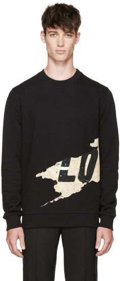 GIVENCHY Black 'Love' Graffiti Sweatshirt. #givenchy #cloth #sweatshirt