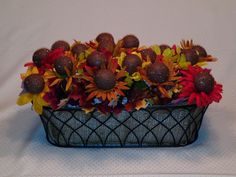 Fall flower cake pops.