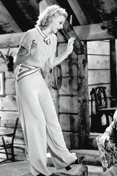 Ginger Rogers - white was very popular to show off the suntan