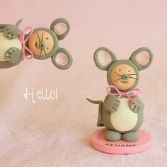 Sculpey Clay baby mice made for Nutcracker Ballet Dancers