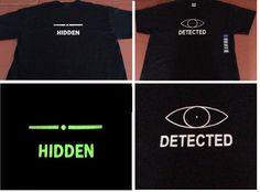 Skyrim inspired glow in the dark hidden/detected T-Shirt on Etsy, $14.99 NEED