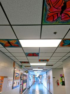 Cassie Stephens: In the Art Room: Another Chalked Ceiling Event!