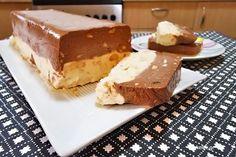 Συνταγή για απολαυστικό παγωμένο γλύκισμα με ζαχαρούχο Greek Sweets, Greek Desserts, Fancy Desserts, Frozen Desserts, Summer Desserts, No Bake Cookies, No Bake Cake, Brownie Deserts, Greek Cake