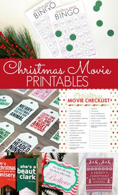 Christmas Movie Printables - free printables for Home Alone, Christmas Vacation, Elf, The Grinch, Polar Express, and It's a Wonderful Life
