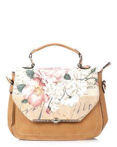 Printed Flap Sling Bag tanmultiJML5