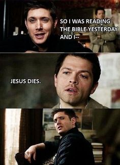 Dude, spoiler alert… It's a #supernatural thing :)