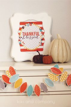 Thankful and Blessed. Free Thanksgiving Printable.