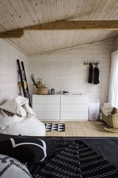 Scandinavian style wooden shed house