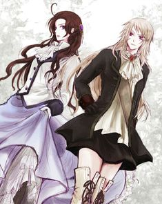 I think it is genderbend Prussia and Austria from Hetalia Prussia Hetalia, Hetalia Characters, Bubbline, Gender Bender, Axis Powers, Anime Kawaii, Anime Shows, Yuri, Austria