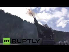 Italy: Tear gas used, arrests made at pro-refugee protest on Brenner Pass . Ruptly TV Ruptly TV | HumanSinShadow