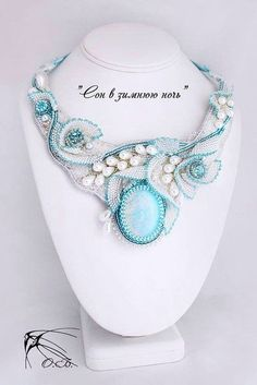 Bead embroidery collar, so beautiful! Bead Embroidery Jewelry, Beaded Jewelry Patterns, Beaded Embroidery, Shibori, Beaded Necklace, Beaded Bracelets, Necklaces, Seed Bead Jewelry, Artisanal