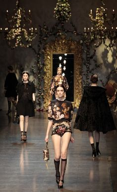 Dolce & Gabbana's Baroque Romanticism   Fashion show Baroque Style....                                                                                                                                                                                 More