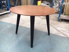 Round Scandinavian Retro Modern Wooden Dining Table - Demo | Dining Tables | Gumtree Australia Kingston Area - Dingley Village | 1155681691