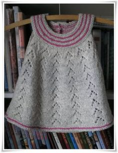 Baby girl dress. Pattern on Ravelry, http://www.ravelry.com/patterns/library/fionas-top. 3 months to 6 years