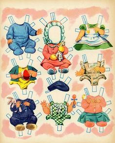 Baby Parade Paper Dolls