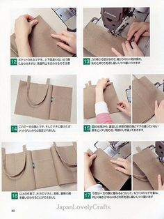 How to Make Canvas Bags Japanese Sewing di JapanLovelyCraftsHow to Make Canvas Bags - Japanese Sewing Pattern Book for Making Bags- Studio Tac Creative - Easy Sewing Tutorial - Leather Tote Bag,sew still arts - Salvabrani Sewing Tutorials, Sewing Projects, How To Make Canvas, Japanese Sewing Patterns, Blog Couture, Fabric Bags, Clutch, Pattern Books, Handmade Bags