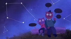 Night in the Woods Mae Borowski and Angus Delaney fanart by soleilos on Tumblr