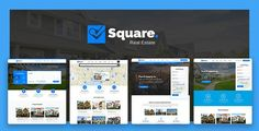 Square - Professional Real Estate PSD Templates by mexopixel This Square template is ideal for real estate companies that want to expand their business online, fully editable and customizable