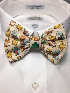 Pokémon Starter-Pack Print Bow Tie by Maria De Barros of 2Marys @ etsy.com (© 2013)