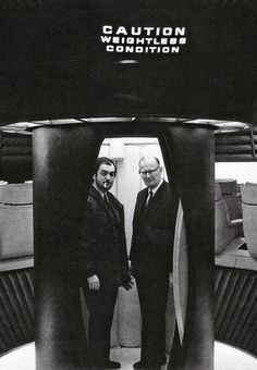 Stanley Kubrick and Arthur C. Clarke on the set of 2001.