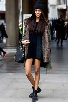 jourdan-dunn-street-style-beanie-dress-winter-steal-the-look