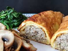 Cheesy egg wrap sage & onion sausage rolls - The Lean Cook Nibbles For Party, Cheesy Eggs, Egg Wrap, How To Make Eggs, Sweet Chilli Sauce, Sausage Rolls, Whole Eggs, Recipe Notes, Sausage Breakfast