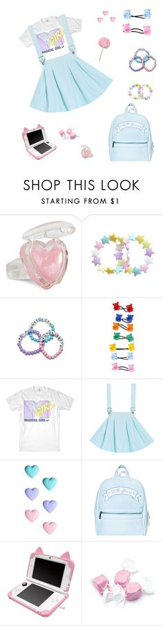 """""""Dreamy Fairy Kei"""" by twerkfinite ❤ liked on Polyvore featuring River Island, Sugarbaby, Salt Water Sandals, pastel, lolita, kawaii, candy and fairykei"""
