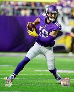 Download wallpapers 4k, Adam Thielen, grunge, Minnesota