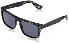 Vans Herren Sonnenbrille , M SQUARED OFF MATTE FINSH ANC, GR. One size (Herstellergröße: One Size), Grau (Matte Finish Anchorage Tortoise)
