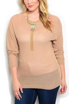 DHStyles Women's Tan Plus Size Casual Sheer Fitted Long Dolman Sleeves Overlay Top - 1X Plus #sexytops #clubclothes #sexydresses #fashionablesexydress #sexyshirts #sexyclothes #cocktaildresses #clubwear #cheapsexydresses #clubdresses #cheaptops #partytops #partydress #haltertops #cocktaildresses #partydresses #minidress #nightclubclothes #hotfashion #juniorsclothing #cocktaildress #glamclothing #sexytop #womensclothes #clubbingclothes #juniorsclothes #juniorclothes #trendyclothing…