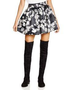 Alice + Olivia Fizer Floral Print Flare Skirt | Bloomingdale's