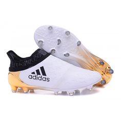 premium selection e66be b2d9e 2016 Adidas X 16 Purechaos FG AG Chaussures de foot Blanc dor noir