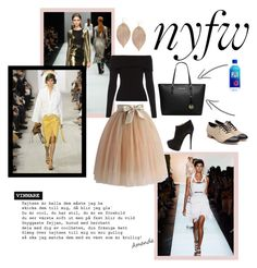 """""""NYFW"""" by helloyve ❤ liked on Polyvore featuring Giuseppe Zanotti, Liam Fahy, MICHAEL Michael Kors, Humble Chic, Guy Laroche, A.L.C., Chicwish, women's clothing, women and female"""